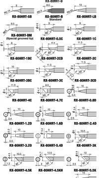 Chuyên phân phối Tip hàn GOOT RX-80HRT